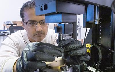 Mechanical Engineering Ph.D. student Azhar Vellore