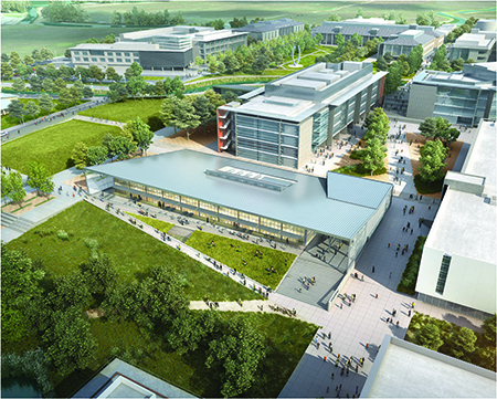 The first buildings in the Merced 2020 Project will open in 2018.