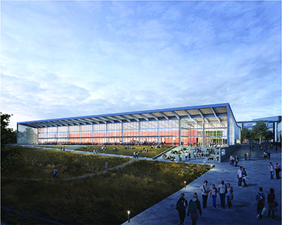 Located at the heart of the expanded campus, UC Merced's 600-seat Central Dining facility will be a key component of student life. Subject to approval by the UC Board of Regents, it is expected to be complete by 2018.