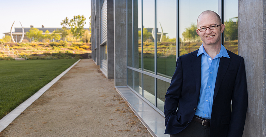 Ryan Bart is a disturbance echohydrologist. Photo by Veronica Adrover, UC Merced