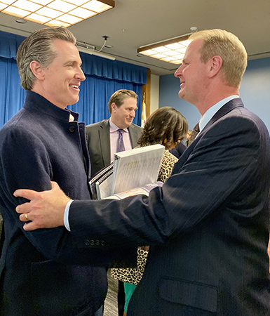 Interim Chancellor Nathan Brostrom met with Governor Gavin Newsom to present a draft of the Fresno DRIVE plan.