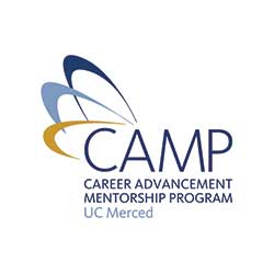 Graphic logo for UC Merced's Career Advancement Mentorship Program