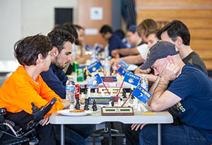 Competitors from UC campuses in Berkeley, Davis and Riverside joined UC Merced for the first UC-wide chess tournament.