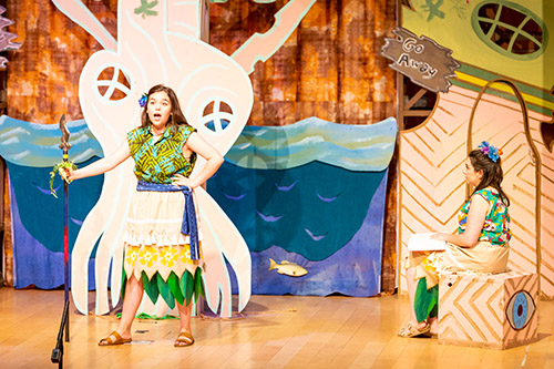 "Actors perform a scene from the Children's Opera production of ""Baobob."""