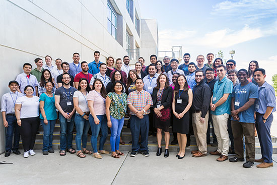 Conference attendees in a group photo