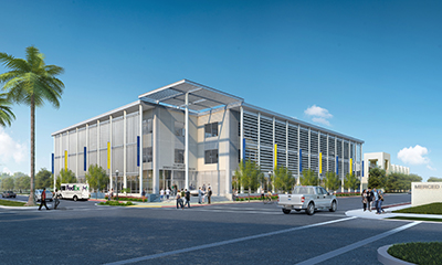 Rendering of UC Merced's new Downtown Campus Center.