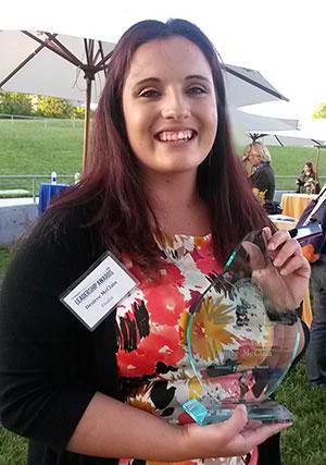 Desiree Mc Clain received the Carol Tomlinson-Keasey Award.