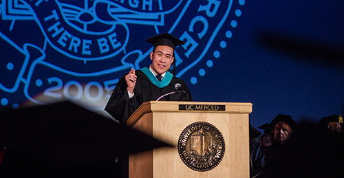 David Do ('09) encouraged students to be different during his commencement speech.