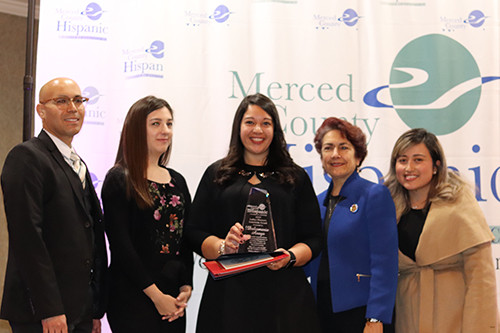 Dulcemaria Anaya was honored at the Latina Women of the Year luncheon earlier this month. Photo courtesy of the Merced County Hispanic Chamber of Commerce.