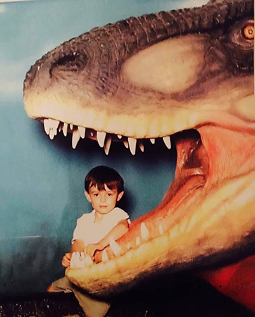 Duran's interest in dinosaurs dates back to his childhood.