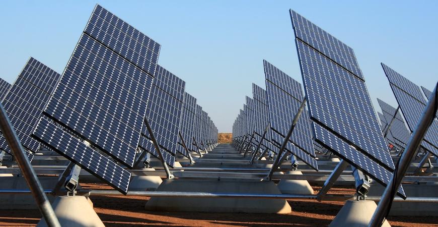 Solar arrays.