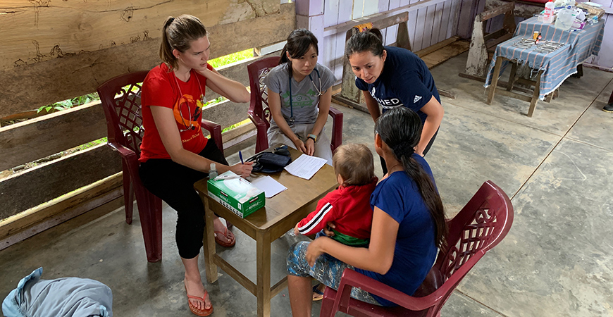 Senior Maria Rivas Reyes was part of a small group of UC Merced students who visited Peru during winter break, serving as translators for medical purposes.
