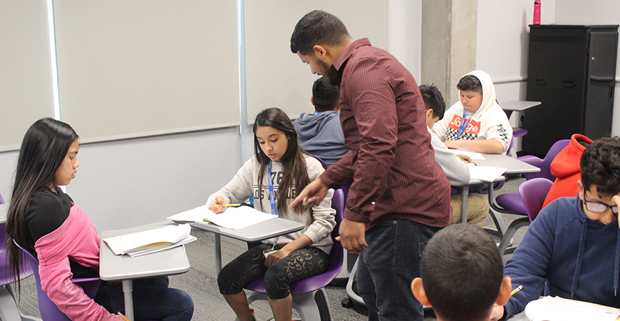 UC Merced's Center for Educational Partnership (CEP) has collaborated with four local school districts to launch a series of Saturday math academies at the UC Merced campus.