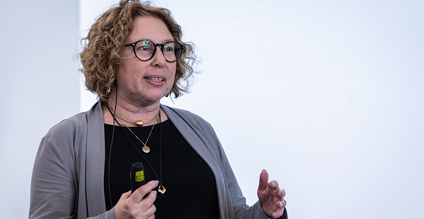 "Beth Mitchneck presented ""Institutional Change for Equality: A Recipe for Change"" as part of Chancellor's Dialogue on Diversity and Interdisciplinarity."