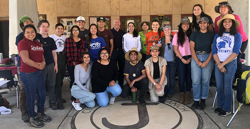 Students from Tulare County took part in the first internship at the UC Merced/SCICON Field Station last week. Photo courtesy of TCOE.