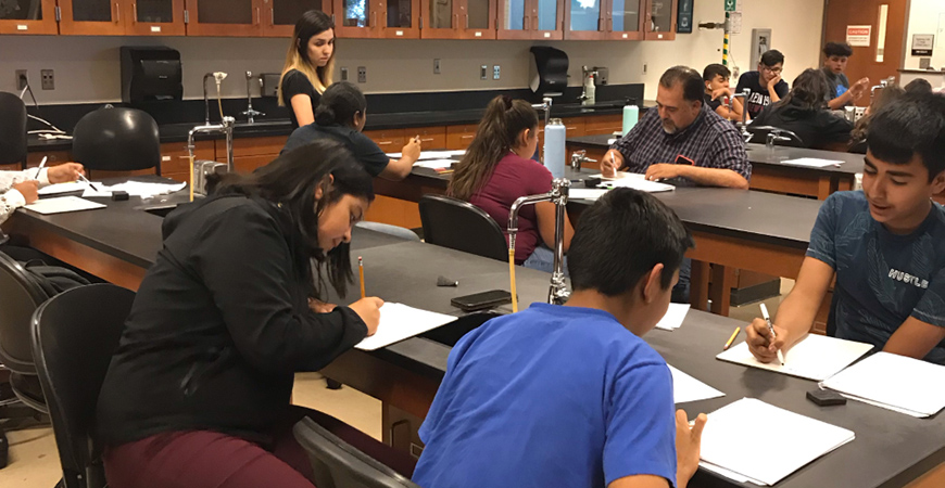 Students from 11 school districts in the San Joaquin Valley took part in UC Merced's Center for Educational Partnerships summer academies.