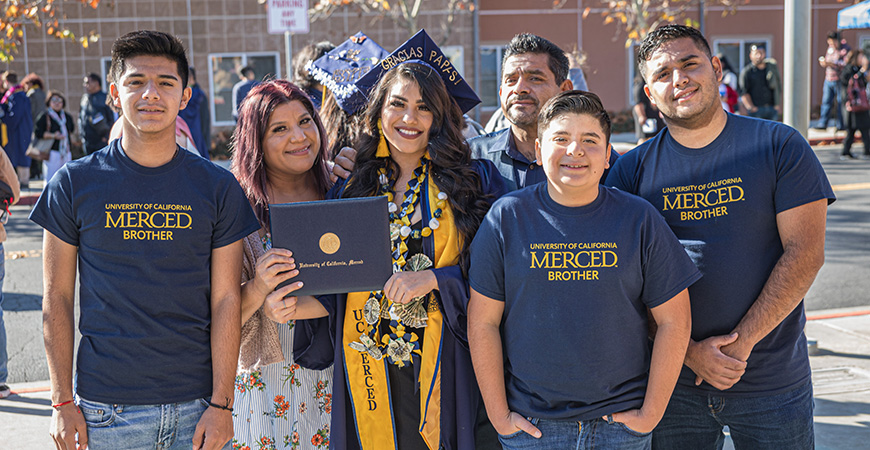 Family and friends of the newest UC Merced graduates gathered at Joseph Edward Gallo Recreation and Wellness Center last weekend for Fall Commencement.