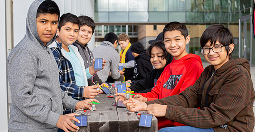 Students from Weaver School took part in Kids Day at UC Merced. The event was part of Engineers Week.