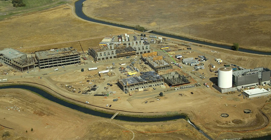 Aerial photo from the early days of the UC Merced campus.