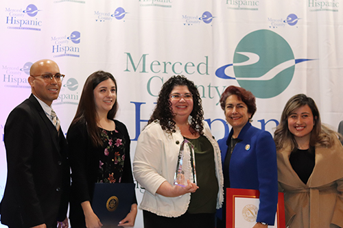 Karla Seijas was honored at the Latina Women of the Year luncheon earlier this month. Photo courtesy of the Merced County Hispanic Chamber of Commerce.