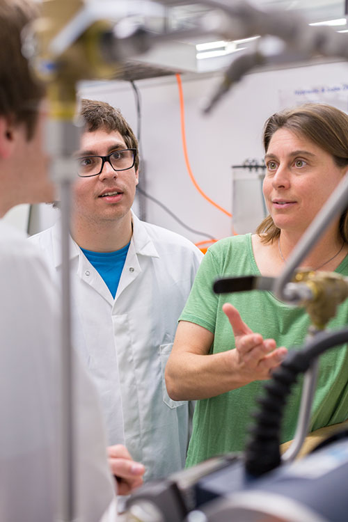 Professor Ashlie Martini and her students study friction at the atomic level.