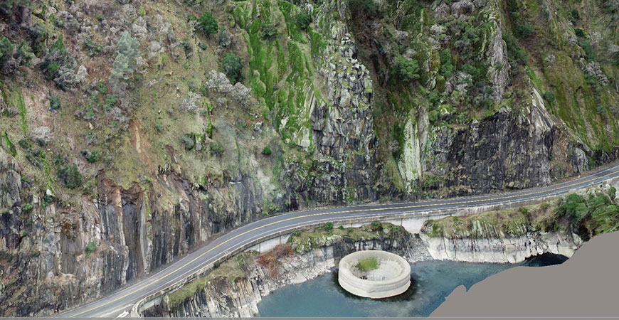 Drones captured photogrammatic images of Lake Berryessa for CalTrans.