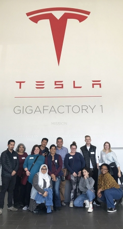 Curriculum is not limited to classroom instruction with the MM degree. Students venture to company headquarters, like Tesla, for a hands-on learning experience.