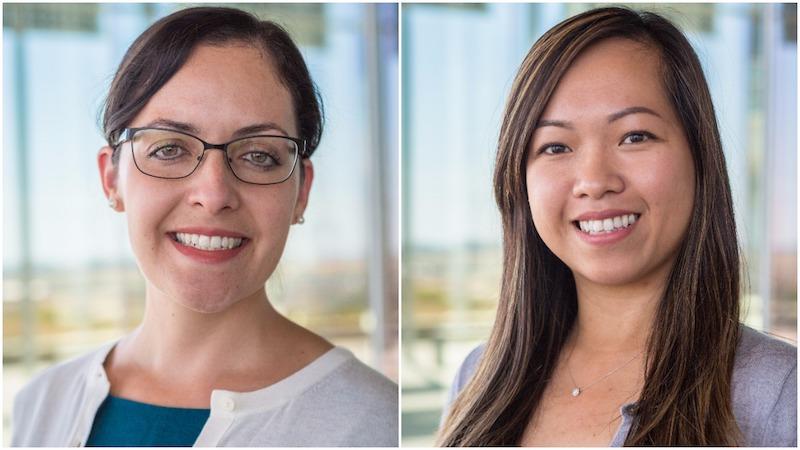 Side-by-side headshots of two new public health professors, both women.
