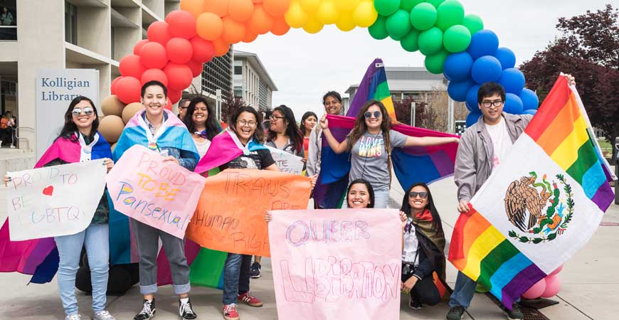 UC Merced students took part in the annual Pride Week march on Monday, April 1.