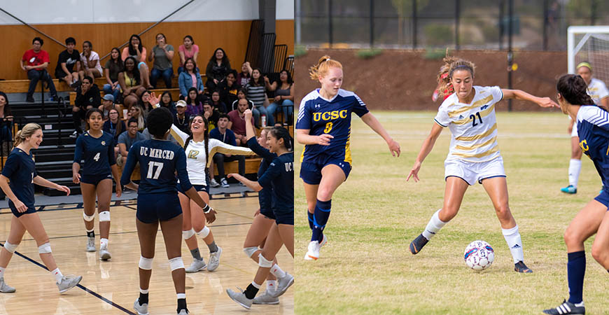 UC Merced women's volleyball and soccer will look to build on strong 2018 seasons when the 2019 season starts later this month.