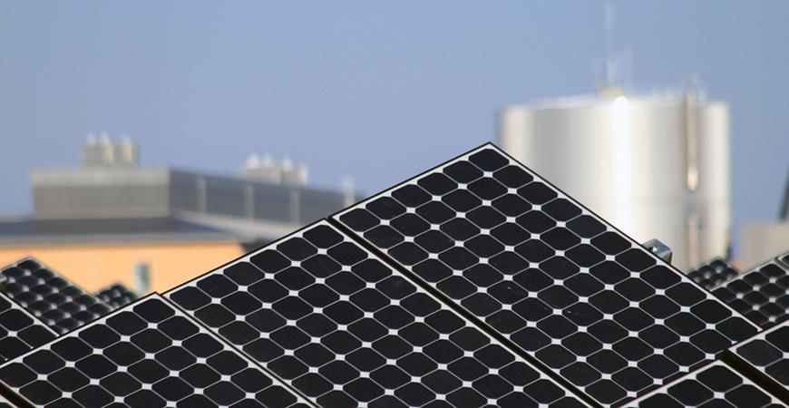 Solar array at UC Merced