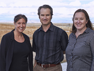 From left: Holley Moyes, Shawn Newsam and Erin Mutch