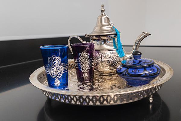 A Moroccan tea set.