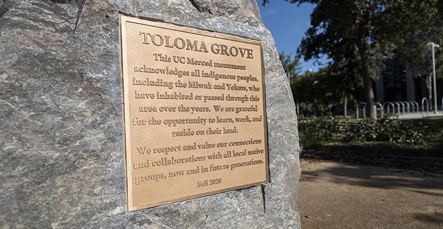Toloma Grove sign.