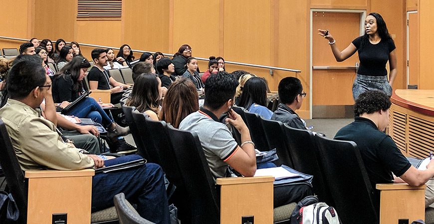 Twitter's Trier-Lynn Bryant speaks to first-generation students about what makes them unique in today's workplace.