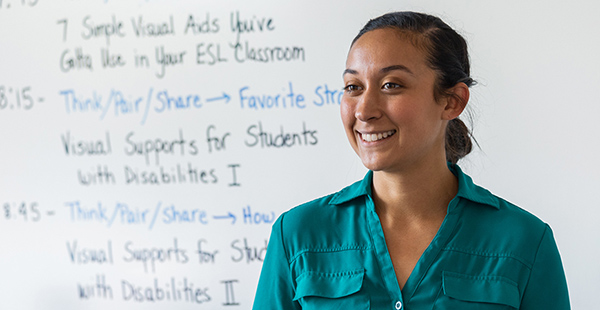 Leticia Rivero, pictured, is a single-subject student in the life sciences.