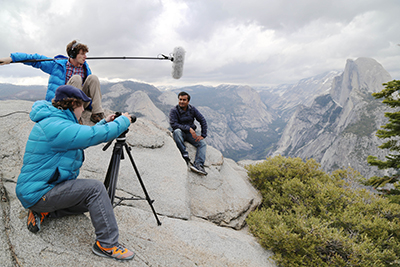 Filming in Yosemite