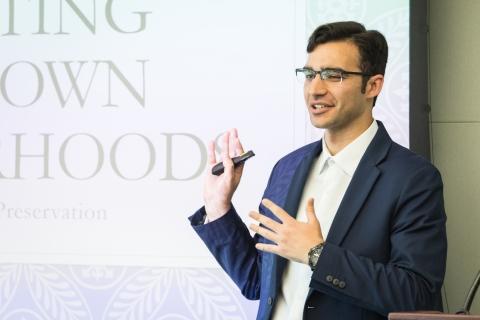 Graduate student Rocco Bowman